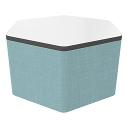 """Shapes Series II Soft Seating Whiteboard Tabletop - Hex (18"""" High) - Blue Crosshatch"""