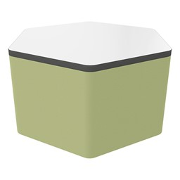 """Shapes Series II Soft Seating Whiteboard Tabletop - Hex (18"""" High) - Fern Green Smooth Grain"""