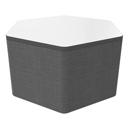 """Shapes Series II Soft Seating Whiteboard Tabletop - Hex (18"""" High) - Gray Crosshatch"""