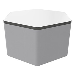 """Shapes Series II Soft Seating Whiteboard Tabletop - Hex (18"""" High) - Light Gray Smooth Grain"""