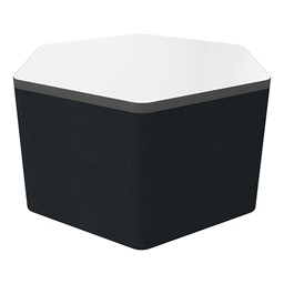 """Shapes Series II Soft Seating Whiteboard Tabletop - Hex (18"""" High) - Navy Crosshatch"""