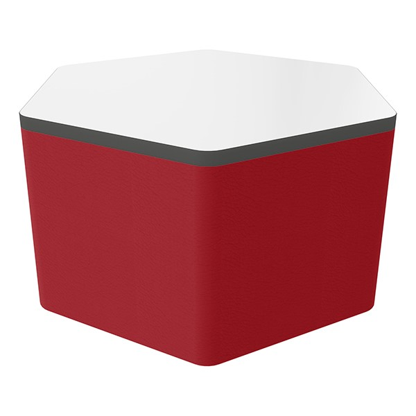 """Shapes Series II Soft Seating Whiteboard Tabletop - Hex (18"""" High) - Red Smooth Grain"""