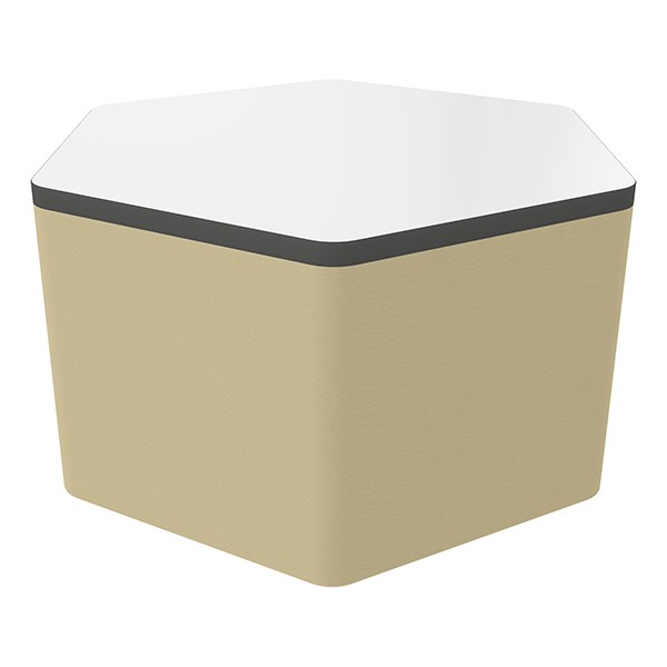 """Shapes Series II Soft Seating Whiteboard Tabletop - Hex (18"""" High) - Sand Smooth Grain"""
