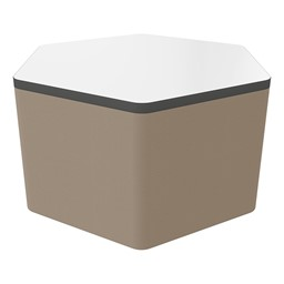 """Shapes Series II Soft Seating Whiteboard Tabletop - Hex (18"""" High) - Taupe Smooth Grain"""