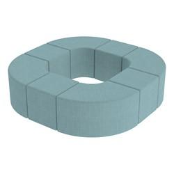 Shapes Series II Vinyl Soft Seating - Donut Set - Blue Crosshatch
