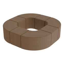 Shapes Series II Vinyl Soft Seating - Donut Set - Brown Crosshatch
