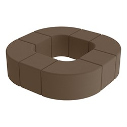 Shapes Series II Vinyl Soft Seating - Donut Set - Chocolate Smooth Grain