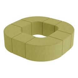 Shapes Series II Vinyl Soft Seating - Donut Set - Green Crosshatch