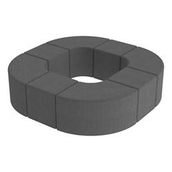 Shapes Series II Vinyl Soft Seating - Donut Set - Gray Crosshatch