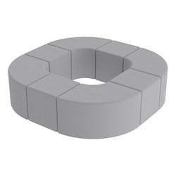 Shapes Series II Vinyl Soft Seating - Donut Set - Light Gray Smooth Grain