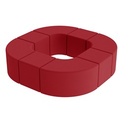 Shapes Series II Vinyl Soft Seating - Donut Set - Red Smooth Grain