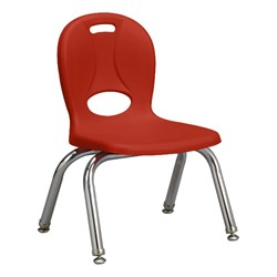 "Structure Series Preschool Chair (10"" Seat Height) - Red"