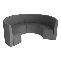 Shapes Series II Structured Vinyl Soft Seating - Curved Huddle - Gray