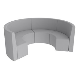 Shapes Series II Structured Vinyl Soft Seating - Curved Huddle - Light Gray