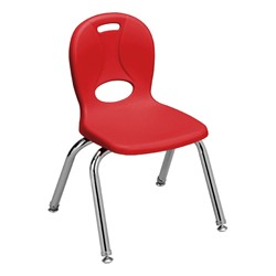"""Pack of Four Assorted Colors Structure Series Preschool Chair (12"""" Seat Height) - Red - Front"""