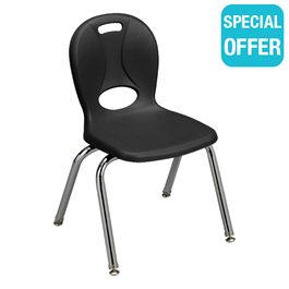 """Structure Series School Chair (14\"""" Seat Height) - Black"""