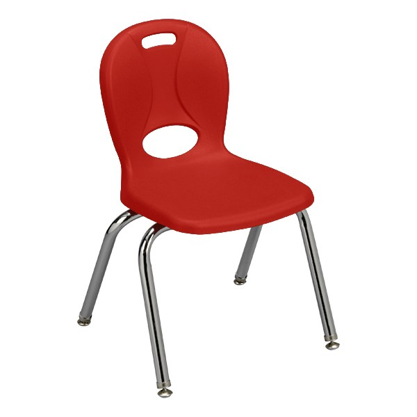 "Structure Series School Chair (14"" Seat Height) - Red"