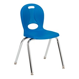 """Structure Series School Chair (16"""" Seat Height) - Brilliant Blue"""