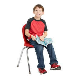"""Structure Series School Chair (16"""" Seat Height) - Red"""