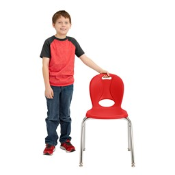 """Structure Series School Chair j(16"""" Seat Height) - Red"""