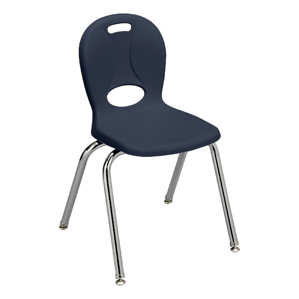 """Structure Series School Chair (16"""" Seat Height) - Navy"""