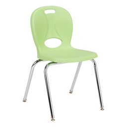 """Structure Series School Chair (18"""" Seat Height) - Green Apple"""