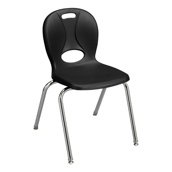 """Structure Series School Chair ( 18"""" Seat Height) - Black"""