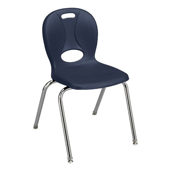 """Structure Series School Chair (18"""" Seat Height) j- Navy"""