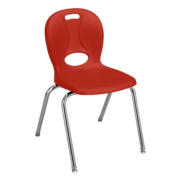 """Structure Series School Chair (18"""" Seat Height) - Red"""