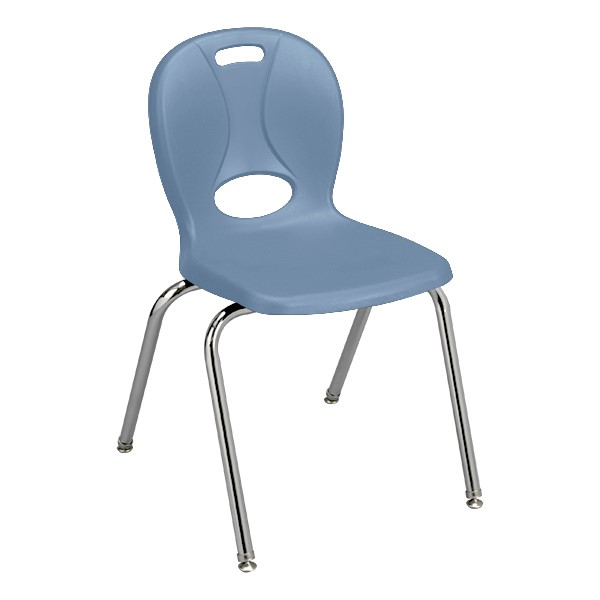 """Structure Series School Chair (18"""" Seat Height) - Sky Blue"""