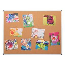 Natural Cork Board w/ Aluminum Frame - Pack of Two