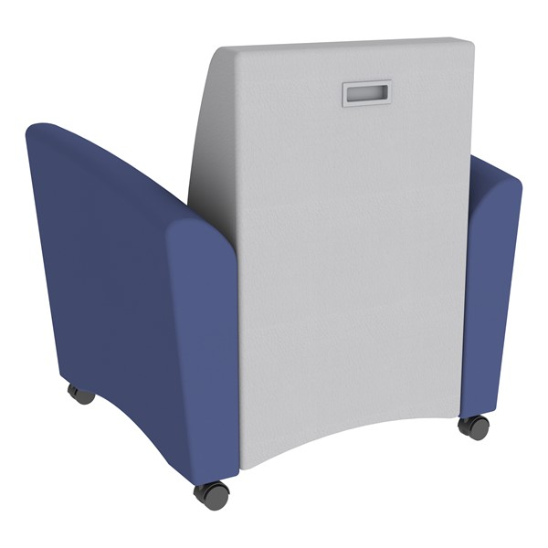 Shapes Series II Common Area Chair w/ Tablet Arm - Navy w/ Gray Back