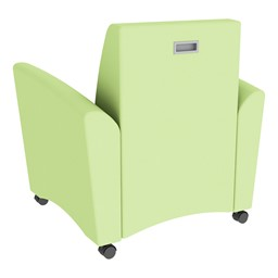 Shapes Series II Common Area Chair w/ Tablet Arm - Green Apple Smooth Grain Vinyl