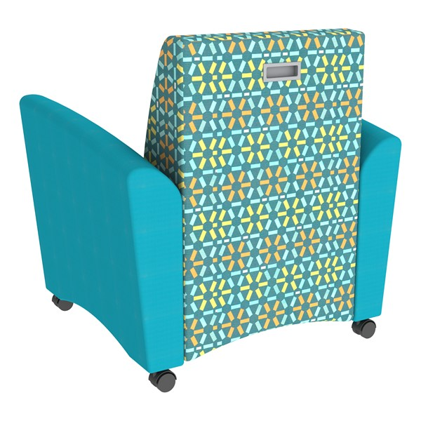 Shapes Series II Common Area Chair w/ Tablet Arm - Teal w/ Atomic Back
