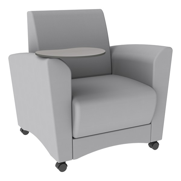 Shapes Series II Common Area Chair w/ Tablet Arm - Gray w/ Gray Tablet Arm