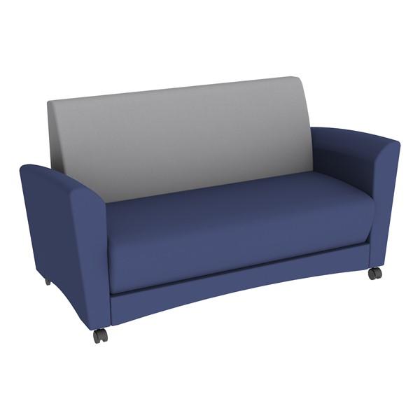 Shapes Series II Common Area Sofa - Navy w/ Light Gray Back