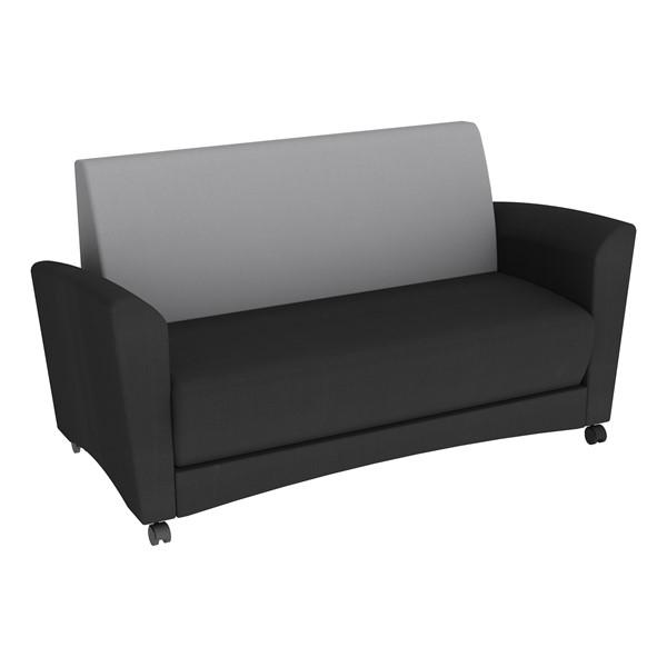 Shapes Series II Common Area Sofa - Black w/ Light Gray Back