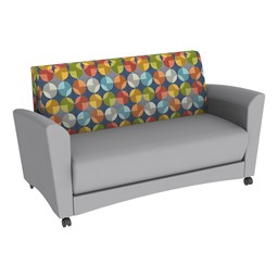 Shapes Series II Common Area Sofa - Light Gray w/ Compass Fabric Back