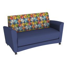 Shapes Series II Common Area Sofa - Navy Seat w/ Compass Back