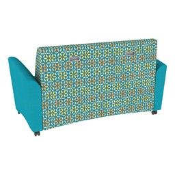 Shapes Series II Common Area Sofa - Teal w/ Atomic Fabric Back
