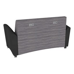 Shapes Series II Common Area Sofa - Black w/ Pepper Fabric Back