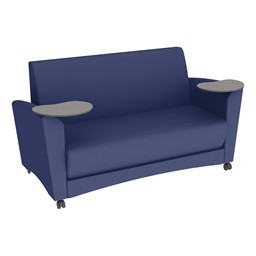 Shapes Series II Common Area Sofa w/ Tablet Arms - Navy