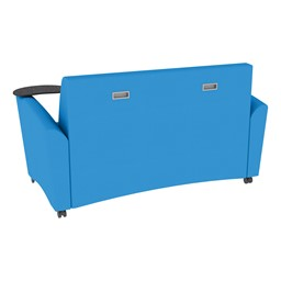 Shapes Series II Common Area Sofa w/ Tablet Arms - Brilliant Blue