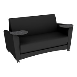 Shapes Series II Common Area Sofa w/ Tablet Arms - Black