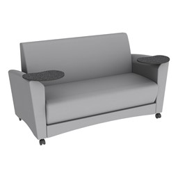 Shapes Series II Common Area Sofa w/ Tablet Arms - Light Gray