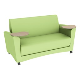 Shapes Series II Common Area Sofa w/ Tablet Arms - Green Apple