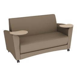 Shapes Series II Common Area Sofa w/ Tablet Arms - Taupe