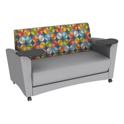 Shapes Series II Common Area Sofa w/ Tablet Arms - Gray Seat w/ Compass Back