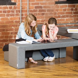 Shapes Series II Stacks Nested Soft Seating - Set of 4 Benches
