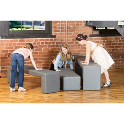 """Shapes Series II Stacks Nested Soft Seating Bench (20"""" H)"""